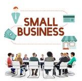 Empresario Conc de la propiedad de los productos del mercado muy especializado de la pequeña empresa fotografía de archivo