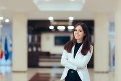 Empresario de sexo femenino Business Executive Manager en lugar de trabajo de la oficina Fotografía de archivo