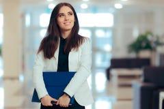 Empresario de sexo femenino Business Executive Manager en lugar de trabajo de la oficina Imagen de archivo libre de regalías