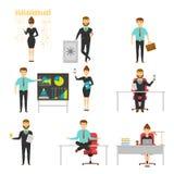 Empresario Set Of Characters Fotos de archivo