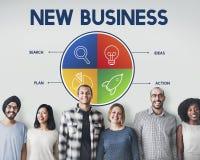Empresario Strategy Target Concept de la puesta en marcha del negocio fotografía de archivo libre de regalías