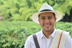 Empresario suramericano auténtico del café imagen de archivo libre de regalías