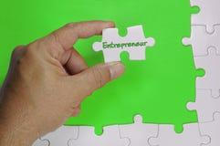 Empresario Text - concepto del negocio imagen de archivo libre de regalías
