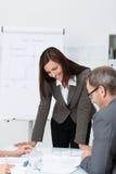 Empresarios en una reunión Imagen de archivo libre de regalías