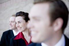 Empresarios felices imagen de archivo libre de regalías