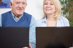 Empresarios felices Fotos de archivo libres de regalías