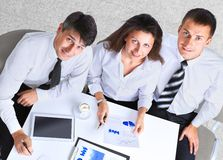 Empresarios que tienen reunión Foto de archivo libre de regalías
