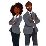 Empresarios Team Standing Folded Hands stock de ilustración