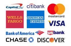 Empresas de cartões do crédito ilustração royalty free