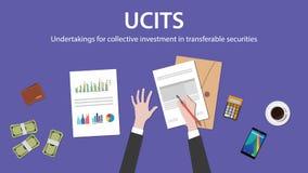 Empresas de Ucit para la inversión colectiva en concepto de las seguridades transferibles Imágenes de archivo libres de regalías