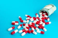 Empresas farmacéuticas de los beneficios imágenes de archivo libres de regalías