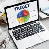 Empresário Strategy Target Concept da partida de negócio Imagem de Stock Royalty Free