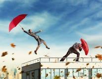 Empresários ao atacar Foto de Stock