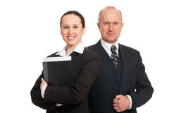 Empresários assegurados do smiley Imagem de Stock