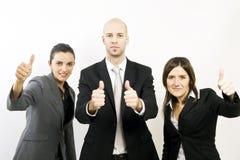 Empresários que comemoram Fotografia de Stock