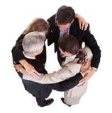 Empresários que guardaram as mãos - trabalhos de equipa Imagem de Stock