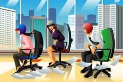 Empresários que têm uma raça da cadeira Foto de Stock