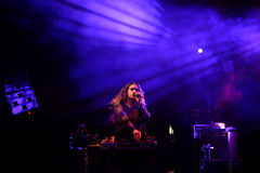 Empress Of band in concert at Primavera Club 2015 Festival Royalty Free Stock Photos