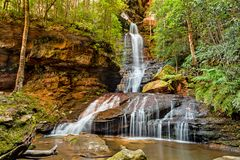 Empress Falls in the Blue Mountains National Park of Australia, royalty free stock photography