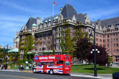The Empress hotel. VICTORIA BC CANADA JUNE 19 2015:The Empress hotel is a symbol for the city itself. It has been designated a National Historic Site due to its Royalty Free Stock Images