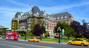 The Empress hotel. VICTORIA BC CANADA JUNE 19 2015:The Empress hotel is a symbol for the city itself. It has been designated a National Historic Site due to its Stock Photos