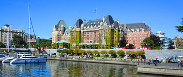 The Empress hotel. VICTORIA BC CANADA JUNE 19 2015:The Empress hotel is a symbol for the city itself. It has been designated a National Historic Site due to its Stock Photography