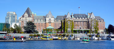 The Empress hotel. VICTORIA BC CANADA JUNE 19 2015:The Empress hotel is a symbol for the city itself. It has been designated a National Historic Site due to its Stock Photo