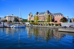 The Empress hotel. VICTORIA BC CANADA JUNE 19 2015:The Empress hotel is a symbol for the city itself. It has been designated a National Historic Site due to its Stock Images