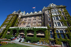 The Empress hotel. VICTORIA BC CANADA JUNE 19 2015: The Empress hotel is a symbol for the city itself. It has been designated a National Historic Site due to its Stock Photography
