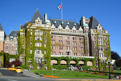 The Empress hotel. VICTORIA BC CANADA JUNE 19 2015:The Empress hotel is a symbol for the city itself. It has been designated a National Historic Site due to its Royalty Free Stock Image