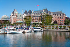 The Empress Hotel, Victoria, Canada stock photo