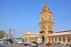 Empress Market clock tower Stock Photo