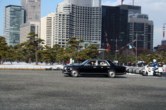 Empress Michiko arrives in Tokyo Stock Photography