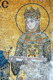 Empress Zoe, Hagia Sofia in Istanbul. Empress Zoe offering a scroll, mosaic fom Hagia Sofia in Istanbul, Turkey stock image