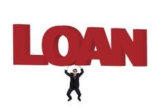 Empréstimo da necessidade do homem de negócios que pede a ajuda Fotografia de Stock