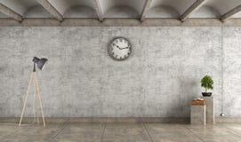 Emprty concrete room vector illustration