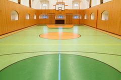 Empt basketbally interior of public Royalty Free Stock Photo