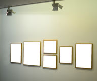 Empt frames on gallery wall Royalty Free Stock Photography