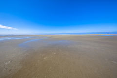 Emptiness of the Wadden sea mudflats Royalty Free Stock Image