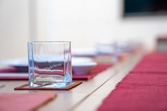 Emptry glasses on the Japanese table style royalty free stock image
