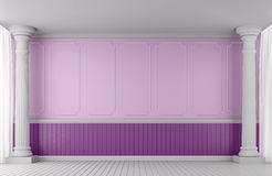 Empty wall classic style for valentine 3d rendering image Stock Images