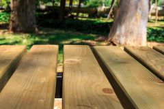 Emptry Wooden Table in Nature Royalty Free Stock Photography