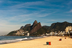 Emptu Ipanema Beach Royalty Free Stock Photos