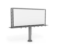 Empty 3D billboard. Big billboard format 5x2m. 3d digital generated image Stock Images