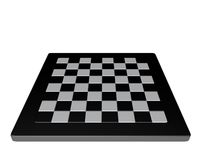 Empty  3d chessboard white and black isolated front view Stock Photography