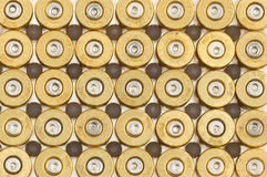 Empty 9mm bullet casings Stock Photos