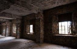 Empty abandoned creepy hotel room Stock Image