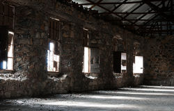 Empty abandoned creepy hotel room Royalty Free Stock Photography