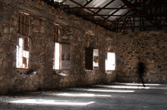 Empty abandoned creepy hotel room Royalty Free Stock Image