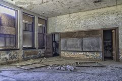 Empty Abandoned Detroit School Urbex royalty free stock photos